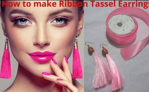 How to make Tassel Fringe Earrings from Ribbon