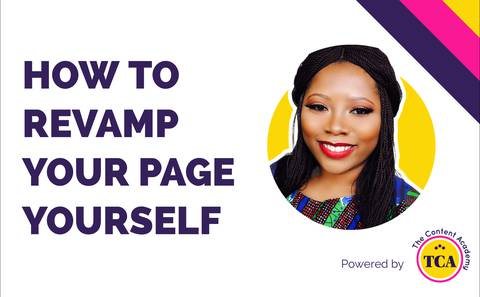 How to revamp your page yourself