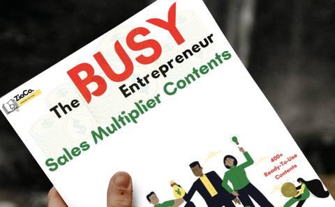 The Busy Entrepreneur Sales Multiplier Contents