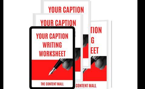 YOUR CAPTION WRITING WORKSHEET