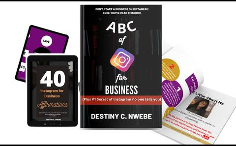 ABC OF INSTGAGRAM FOR BUSINESS- The Simplified Approach + WORKBOOK AND AFFIRMATION CARD