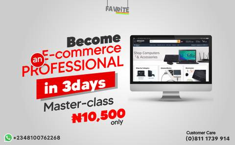 BECOME AN E-COMMERCE PROFESSIONAL IN 3DAYS
