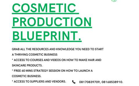 COSMETIC PRODUCTION BLUEPRINT.