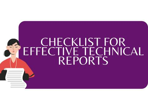 Checklist for Technical Reports