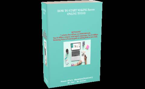 HOW TO START MAKING $1000 ONLINE TODAY