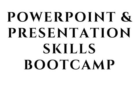 PowerPoint and Presentation Skills Bootcamp - How to Create and Deliver Great Presentations
