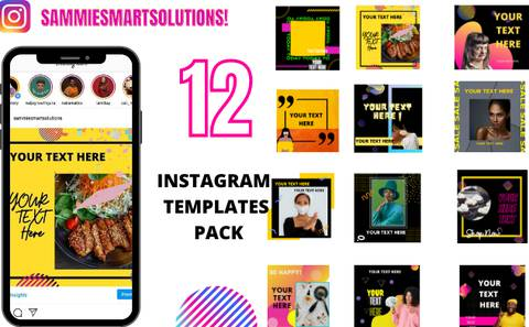 12 INSTAGRAM TEMPLATES PACK