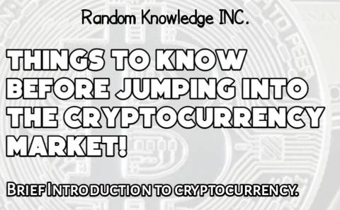 Things to know before jumping into cryptocurrency