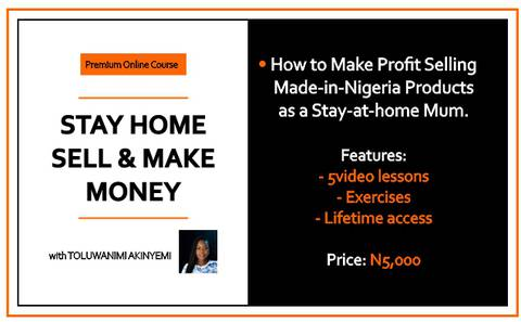 STAY HOME, SELL & MAKE MONEY!