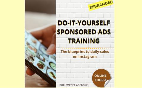 DO-IT-YOURSELF SPONSORED ADS TRAINING. The blueprint to daily massive sales on Instagram.