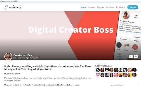 UPDATES: Kobocourse Branded Profiles for Creators - Your Own Mini Website