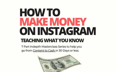 HOW TO MAKE MONEY ON INSTAGRAM - Mindset, Money, Marketing Strategies [Replay Bundle]