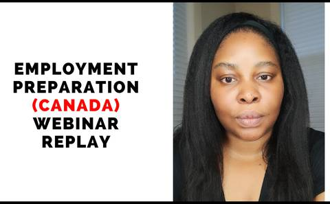Employment preparation for Canada - Webinar