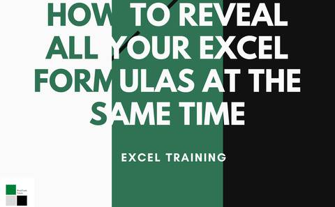 How to reveal the formulas in your excel sheet at the same time