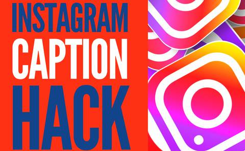 A FREE resource tool to help you write better captions on Instagram.