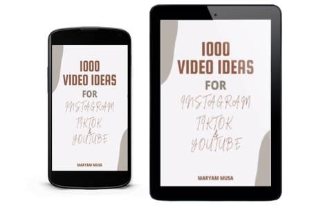 1000 VIDEO IDEAS FOR INSTAGRAM, TIKTOK &YOUTUBE
