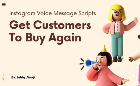 Voice Message Script Templates For Instagram Businesses
