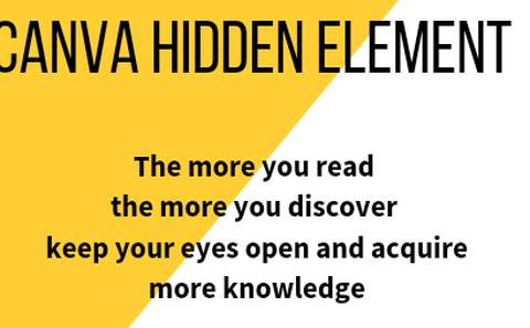 Canva hidden element