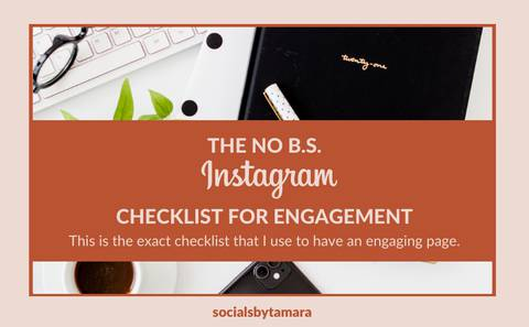 THE NO B.S. INSTAGRAM CHECKLIST FOR ENGAGEMENT
