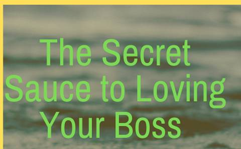 The Secret Sauce to Loving Your Boss