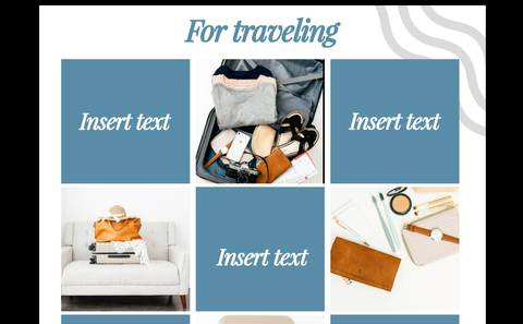 INSTAGRAM PUZZLE TEMPLATE 1.0 (For Travelling)